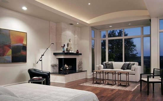Bedroom Corner Fireplace Decor Decorating Ideas