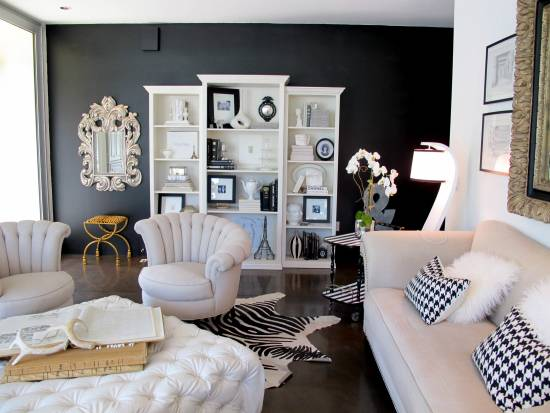 Black Accent Wall 21 black wall living room ideas | ultimate home ideas