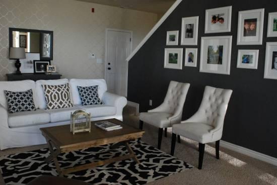 Black Walls Living Room