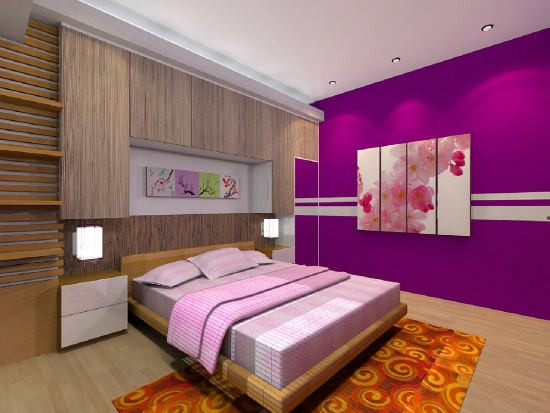 purple bedroom ideas - Bedrooms Walls Designs