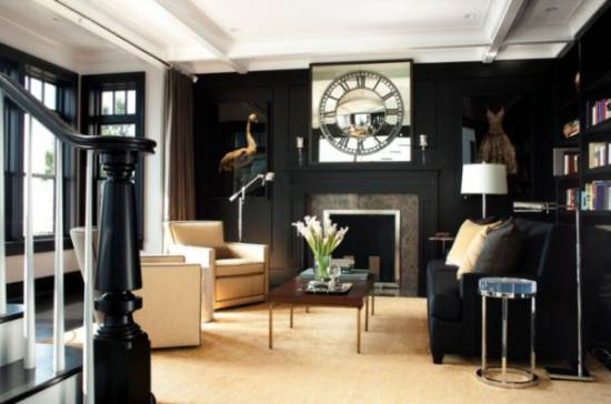 21 Black Wall Living Room Ideas | Ultimate Home Ideas