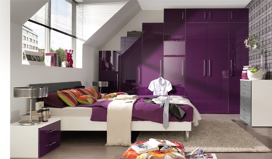cool purple bedroom design for teenage girl purple bedrooms - Cool Bedroom Designs For Girls