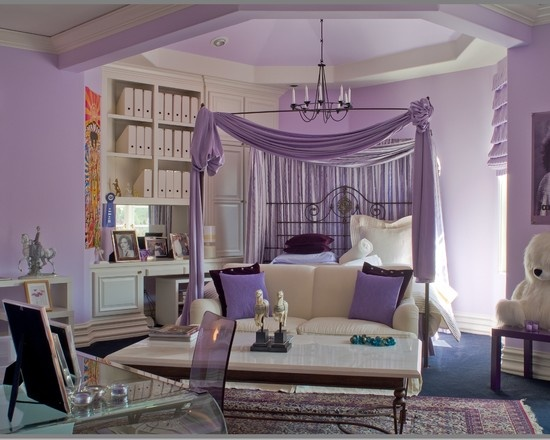 50 purple bedroom ideas for teenage girls ultimate home for Teenage living room ideas