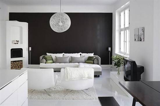 21 black wall living room ideas ultimate home ideas - White walls living room ...
