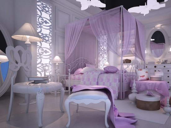 ... Purple Bedrooms ...