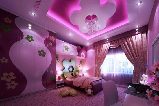 purple bedroom ideas - Girls Room Paint Ideas Pink