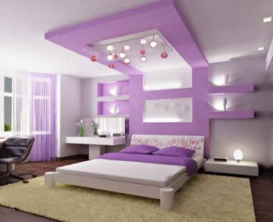 50 purple bedroom ideas for teenage girls ultimate home for Blue purple bedroom ideas