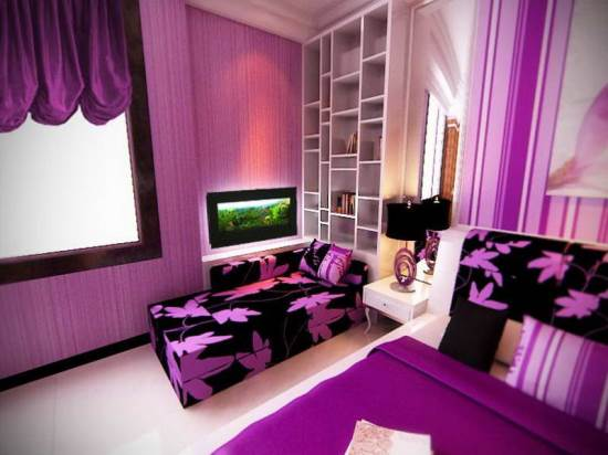 Black Bedroom 50 purple bedroom ideas for teenage girls | ultimate home ideas