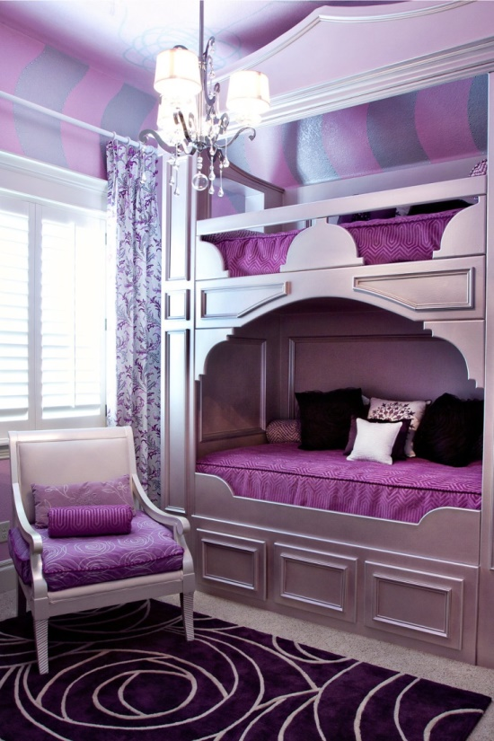 purple bedroom ideas - Themed Teenage Bedrooms