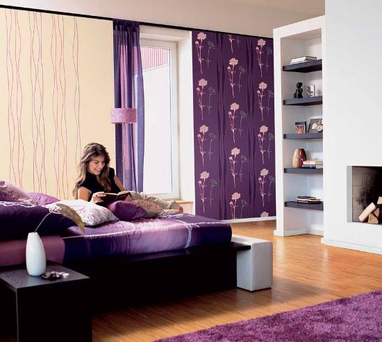50 purple bedroom ideas for teenage girls ultimate home for Girls bedroom wallpaper ideas