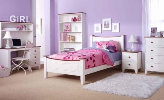 50 purple bedroom ideas for teenage girls ultimate home ideas - Pink and white teenage room ...