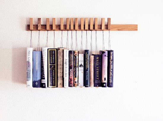 amazing diy hanging book shelf diy wall shelf ideas - Wall Hanging Book Shelf