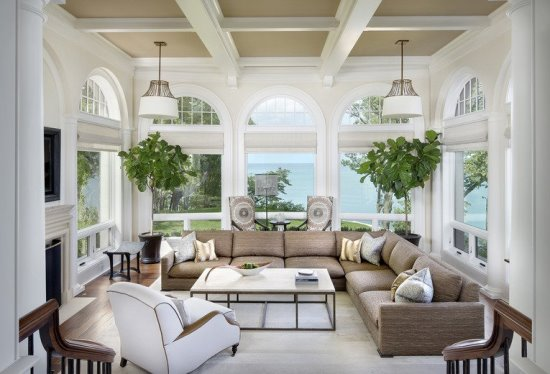 Sunroom Ideas Designs traditional sunroom design with two conversation zones Sunroom Designs Ideas