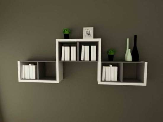 Modern Bedroom Bookshelves