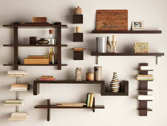 diy wall shelf ideas - Unique Wall Designs