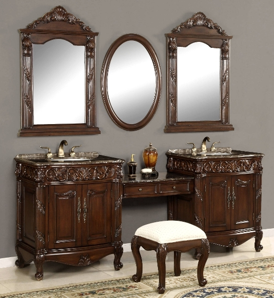 51 makeup vanity table ideas ultimate home ideas for Antique bathroom vanity ideas