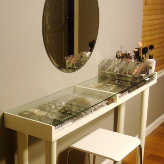51 makeup vanity table ideas ultimate home ideas for Glass makeup table