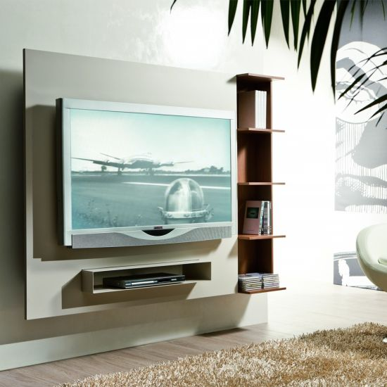 55 cool entertainment wall units for bedroom - Hanging tv on wall ideas ...