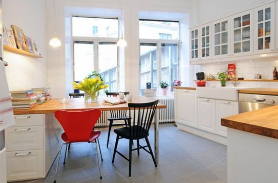 multipurpose kitchen table in small space kitchen table designs