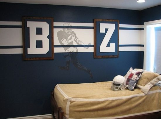 Sports Themed Bedroom Accessories American Football Wall Mural Theme For Sports Boys Bedroom