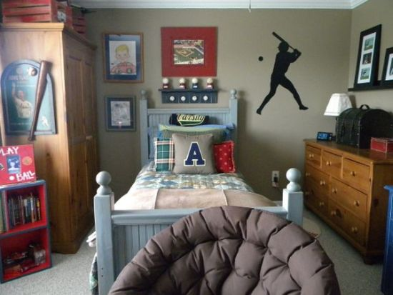 Baseball Themed Bedroom Decor For Boys Sports