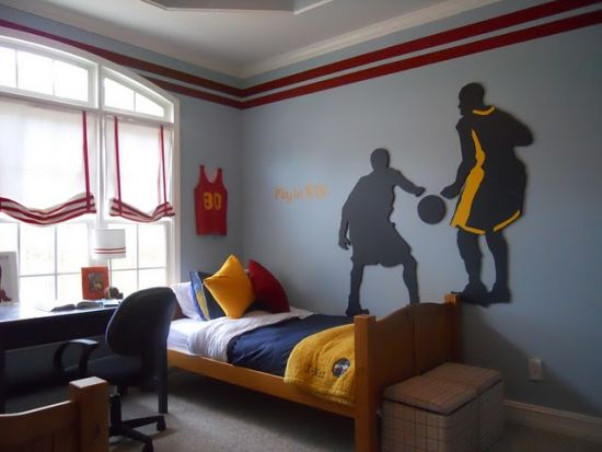 50 sports bedroom ideas for boys ultimate home ideas - Comely pictures of basketball themed bedroom decoration ideas ...