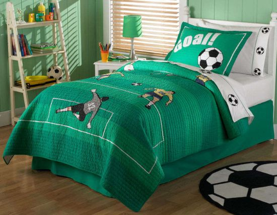 Football Themed Bedroom Mesmerizing 50 Sports Bedroom Ideas For Boys  Ultimate Home Ideas Inspiration Design