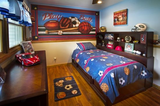 sports themed bedroom - Boy Bedroom Theme