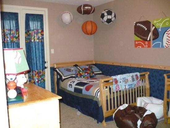 Boys Sports Decor Bedroom