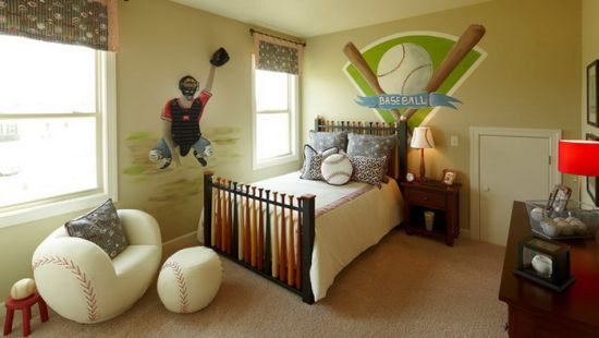 Cool Baseball Wall Decor Ideas For Boys Bedroom Sports Themed
