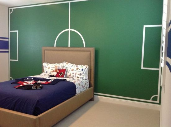 Football Themed Bedroom Mesmerizing 50 Sports Bedroom Ideas For Boys  Ultimate Home Ideas Design Inspiration