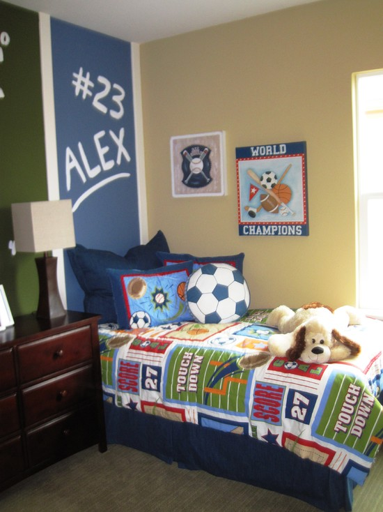 Great Sports Themed Bedroom