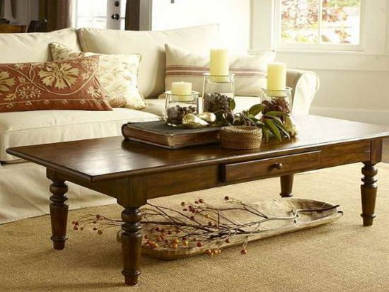 living room table centerpiece idea with candles and glass goblets table centerpiece ideas - Design Living Room Tables