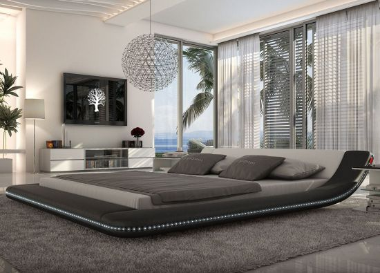platform bed ideas - Modern Queen Bed Frame