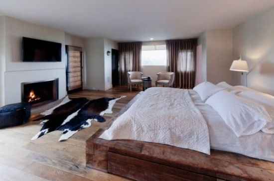 Perfect  solid wood base Platform Bed Designs