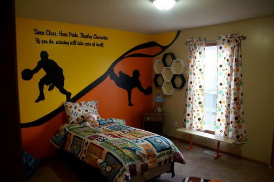 Sports Themed Bedroom Accessories Quotation And Sports Themed Bedroom Wall Decor Ideas For Boys