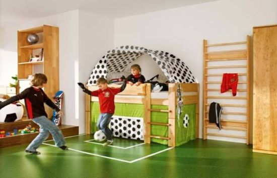 Football Themed Bedroom Interesting 50 Sports Bedroom Ideas For Boys  Ultimate Home Ideas Decorating Inspiration