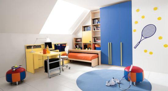 Tennis Themed Boys Bedroom Decor Ideas. Sports Bedroom