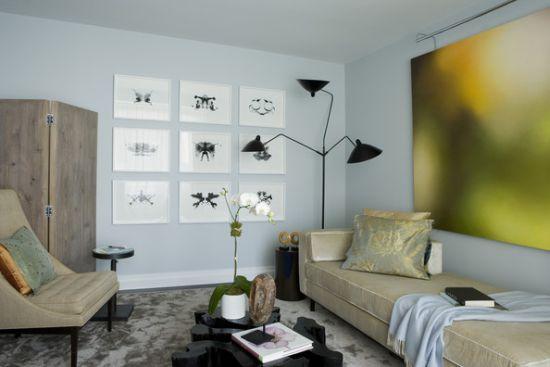 black  floor lamp idea