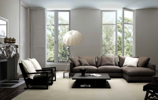 ... Modern Living Room. Floor Lamps