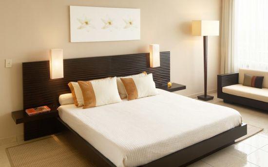 Wooden platform bed idea