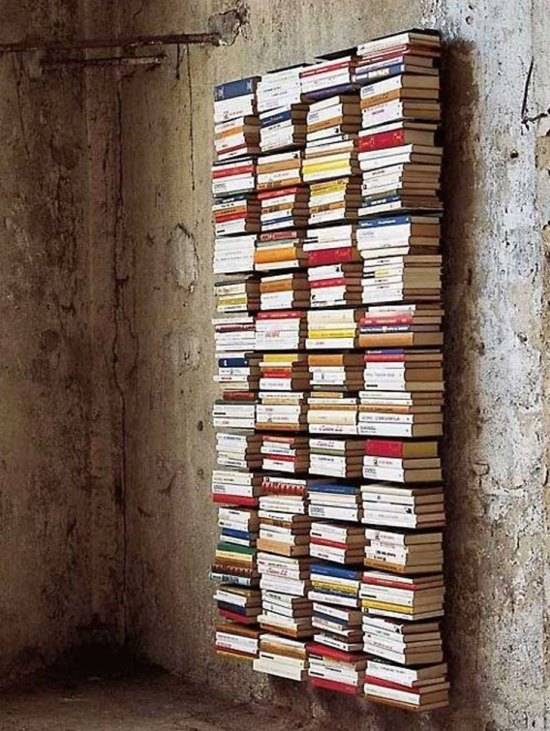 Amazing Invisible DIY Bookshelf. DIY Bookshelf Ideas