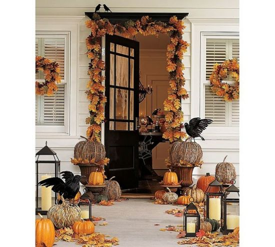 Front porch decorating ideas for fall ultimate home ideas - Decoration halloween maison ...