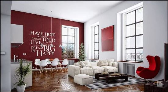 Living Room Ideas Red Accents