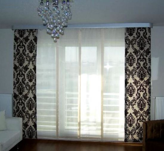 ... Black White Patterned Curtains. Sheer Curtain Designs