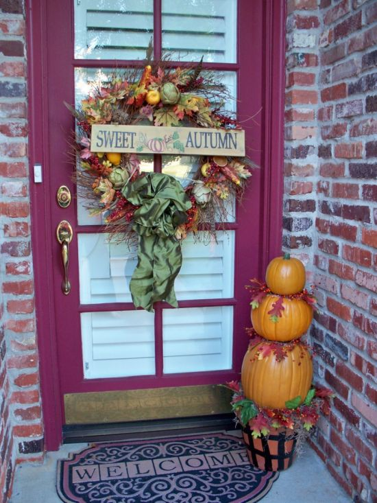 Front porch decorating ideas for fall ultimate home ideas for Idea deco guijarro exterior