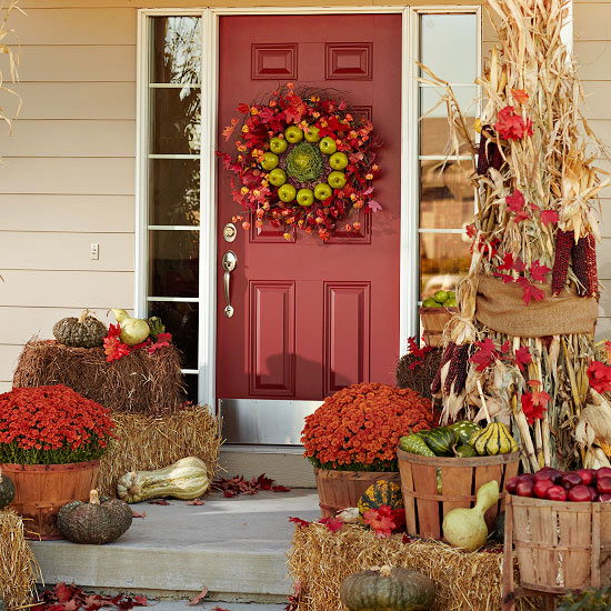 Fall Front Entrance: Front Porch Decorating Ideas For Fall