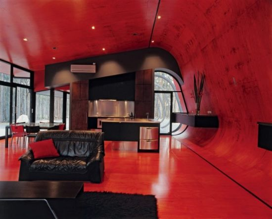 Red living room ideas