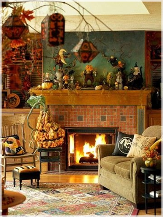 Lavish Halloween Living Room Decor. Halloween Decoration Ideas Part 6