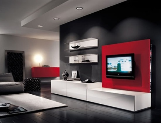 Lovely Red Living Room Ideas